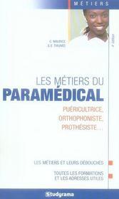 Les métiers du paramédical (4e édition) - Intérieur - Format classique