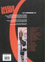 Jessica Blandy T.23; La Chambre 27 - 4ème de couverture - Format classique