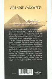 Pharaons Menent A La Vie Etetnelle - 4ème de couverture - Format classique