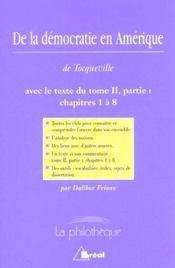 De la démocratie en Amérique, de Tocqueville - Intérieur - Format classique