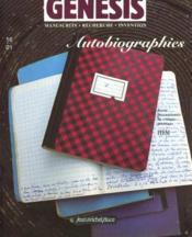 Genesis N.16 ; Autobiographies - Couverture - Format classique