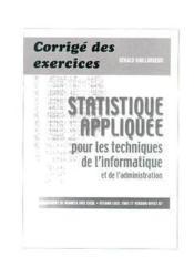 Statistique appliquee pour les techniques de l'informatique et de l'administration corriges des exer - Couverture - Format classique