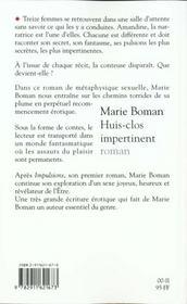 Huis clos impertinent - 4ème de couverture - Format classique