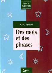 Des mots et des phrases (tests et matériels en orthophonie) - Couverture - Format classique