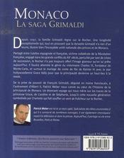 Monaco, la saga Grimaldi - 4ème de couverture - Format classique