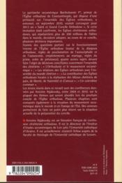 En attendant le concile de l'eglise orthodoxe - 4ème de couverture - Format classique