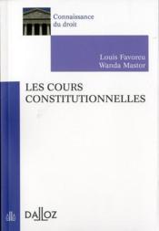 Les cours constitutionnelles - Couverture - Format classique