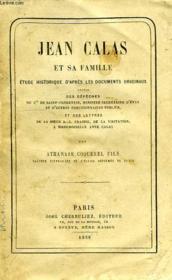 Jean Calas Et Sa Femme, Etude Historique D'Apres Les Documents Originaux - Couverture - Format classique