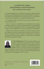 Gestion des risques professionnels et environnementaux dans le domaine minier guineen - 4ème de couverture - Format classique