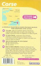 Voyager Pratique ; Corse - 4ème de couverture - Format classique