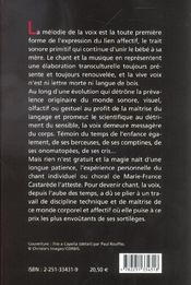 Voix et ses sortileges (la) (3e édition) - 4ème de couverture - Format classique
