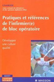 Pratiques Et References De L'Infirmier De Bloc Operatoire - Intérieur - Format classique