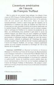 L'Aventure Americaine De L'Oeuvre De Francois Truffaut - 4ème de couverture - Format classique