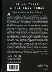 Et Le Verbe S'Est Fait Chair - 4ème de couverture - Format classique
