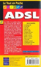 Le Tout En Poche Adsl - 4ème de couverture - Format classique