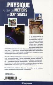 La physique au coeur des métiers du XXI siècle - 4ème de couverture - Format classique