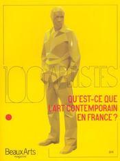 Qu'Est-Ce Que L'Art Contemporain En France ? 100 Artistes - Intérieur - Format classique