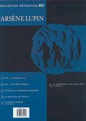 Arsène Lupin t.4 ; le bouchon de cristal - 4ème de couverture - Format classique