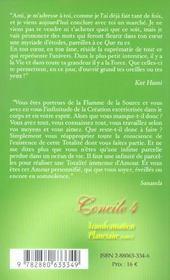 Concile 4 transformation planetaire tome 6 (édition 2005) - 4ème de couverture - Format classique