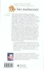 Bio malmenee (la) - 4ème de couverture - Format classique