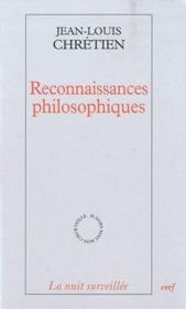 Reconnaissances philosophiques - Couverture - Format classique