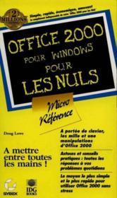 Office 2000 Microreference Pour Les Nuls - Couverture - Format classique