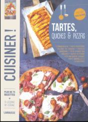Pizzas, quiches et tartes - Couverture - Format classique