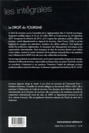 Le droit du tourisme (2e édition) - 4ème de couverture - Format classique
