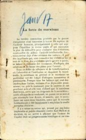 La Force Du Marxisme - Extrait De L'Avenir - N°? - Janvier 1917. - Couverture - Format classique