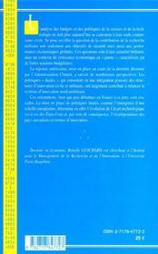 Recherche Militaire - 4ème de couverture - Format classique