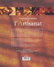 Les Magnifiques Metiers De L'Artisanat T.2 - 4ème de couverture - Format classique