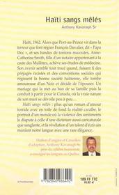 Haiti Sangs Meles - 4ème de couverture - Format classique