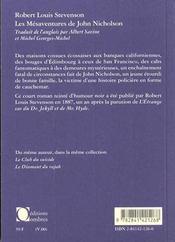 Mesaventures De John Nicholson (Les) - 4ème de couverture - Format classique