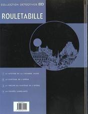 Rouletabille t.4 ; la poupée sanglante - 4ème de couverture - Format classique