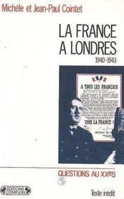 France a Londres (la) - Couverture - Format classique