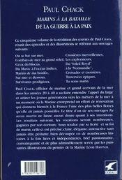 Marins à la bataille t.5 ; de la guerre à la paix - 4ème de couverture - Format classique