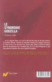 Le syndrome godzilla - 4ème de couverture - Format classique