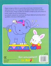 Pinpin Le Lapin Au Zoo - 4ème de couverture - Format classique