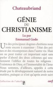 Le genie du christianisme, de René de Châteaubriand - Couverture - Format classique