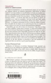 Le genie du christianisme, de René de Châteaubriand - 4ème de couverture - Format classique