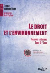 Le droit et l'environnement - Couverture - Format classique