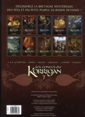 Les contes du korrigan T.7 ; l'assemblée des bardes - 4ème de couverture - Format classique
