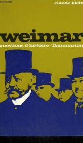 Weimar. Collection : Questions D'Histoire N° 4 - Couverture - Format classique