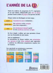 L'ANNEE DE ; terminale l - 4ème de couverture - Format classique