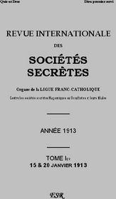 R.I.S.S. Grise 1913 - Couverture - Format classique