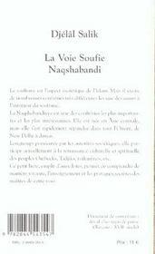 La voie soufie Naqshabandi - 4ème de couverture - Format classique