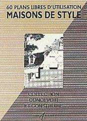 Maisons De Style - Couverture - Format classique