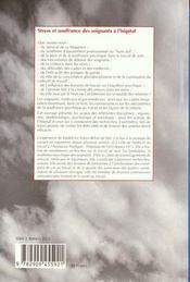Stress et souffrance des soignants à l'hopital - 4ème de couverture - Format classique