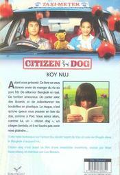 Citizen dog - 4ème de couverture - Format classique