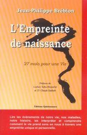 L'Empreinte De Naissance - Intérieur - Format classique